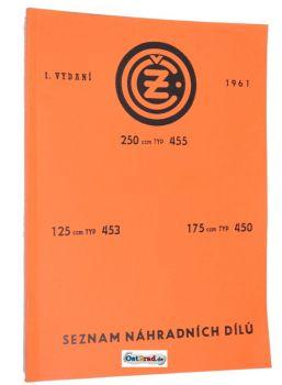 Ersatzteilkatalog CZ 125 175 250 Typ 455 453 450 deutsch