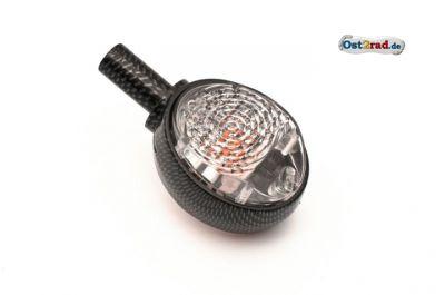 Lenkerblinker 1 Stück Ochsenauge SIMSON passend für MZ ES carbon-klar