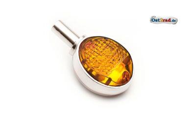 Lenkerblinker 1 Stück Ochsenauge SIMSON passend für MZ ES chrom-orange