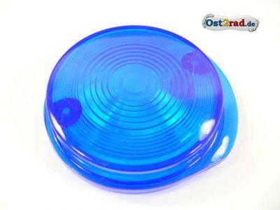 Blinkerkappe rund vorn passend für MZ und SIMSON blau