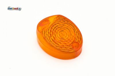 Blinkerglas Lenkerblinker Ochsenauge passend für SIMSON MZ ES orange
