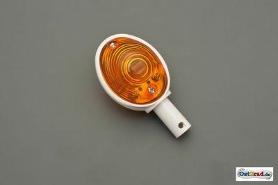 Lenkerblinker Ochsenauge 1 Stück passend für MZ SIMSON IWL weiß-orange