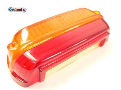 Rücklichtkappe CZ 125, 175, 250, PAV orange-rot