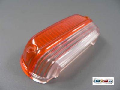 Rücklichtkappe CZ 125, 175, 250, PAV orange-weiß