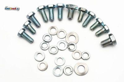 Schraubensatz Fahrgestell Sättel, Werkzeug, Zubehör passend für MZ ES 125 150