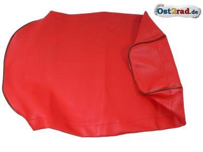 Sitzbankbezug passend für MZ ES ETS 125 150 rot mit schwarzem Keder