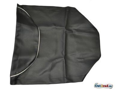 Sitzbankbezug passend für MZ ES 125 150 schwarz mit weißem Keder