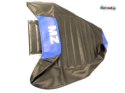 Sitzbankbezug passend für MZ ETZ 125, 150, 251 schwarz/blau