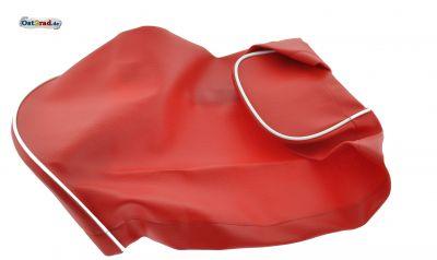 Sitzbankbezug passend für MZ ES 125 150 rot mit weißem Keder