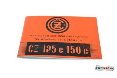 Technische Beschreibung und Anleitung CZ 125 150 C deutsch