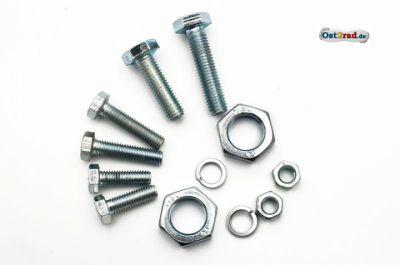 Schraubensatz Fahrgestell Träger für Vordergabel, Schwinge vorn passend für MZ ES 125 150