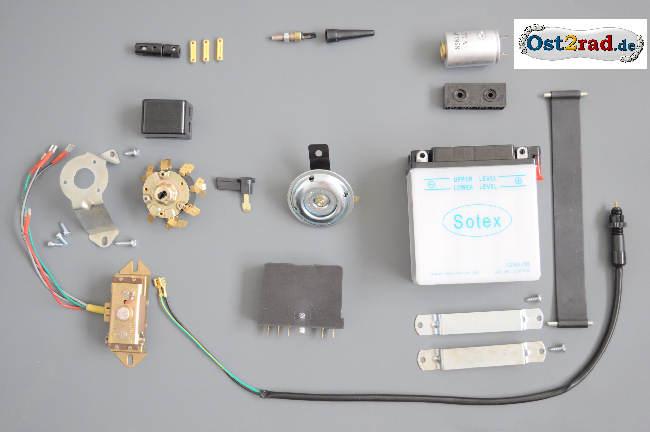 Elektrikausstattung Elektrik Batterie Zündschloss Steuerteil Blinkgeber Simson S51 S50