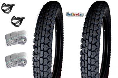 Jeu de 2 pneus Mitas H-03 Klassik18 X 3,25 - 18 x 3,50 AWO Sport