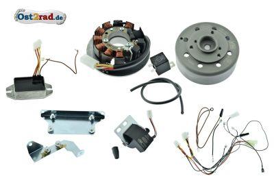Zündung Vape Version 3, 12V Set für Simson SR50 Roller, M-G-V Magnete vergossen