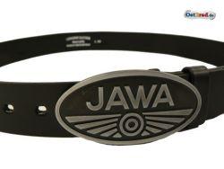Ceinture en cuir noir 110cm logo JAWA