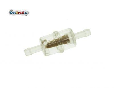 Benzinfilter klein - Kunststoff / Messinggranulat - ø 6 mm Anschluss