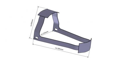 Kotflügel Halter vorn für alle MZ TS Modelle, Rohteil