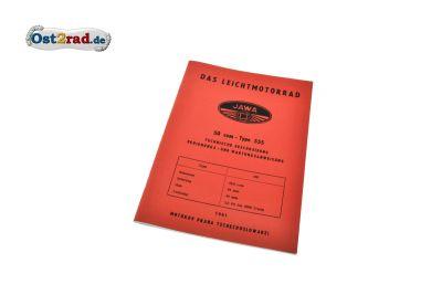 Technische Beschreibung, Bedienungs- und Wartungsanweisung JAWA Pionier 555 deutsch