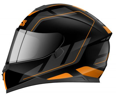 Integralhelm IXS 1100 2.0 matt-schwarz orange