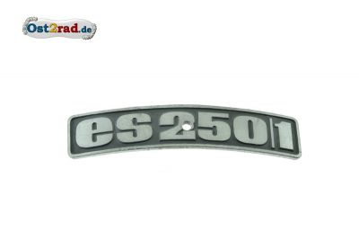 Badge, plaque for fender MZ ES250 / 1 curved
