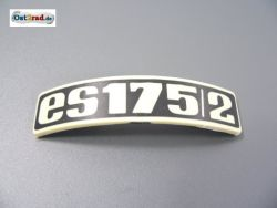 Badge, plaque for fender MZ ES175 / 2 bent