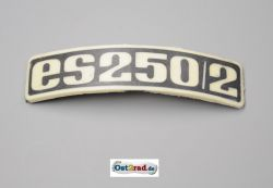Badge, plaque for fender MZ ES250 / 2 curved plastic