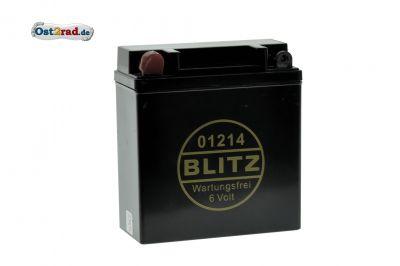 AGM-Batterie WARTUNGSFREI 6V 12Ah SCHMAL SCHWARZ für S50 S51 SR50 ES TS ETS 125 150 250 RT125/3