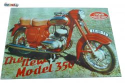 "Aluminiumschild Jawa ""The new Model 350"""