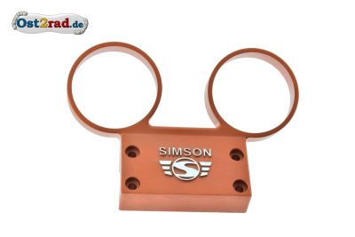 Dashboard SIMSON S51, S70 aluminium with orange logo