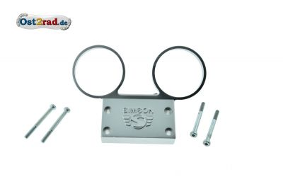Dashboard SIMSON S51, S70 alloy silver with Logo