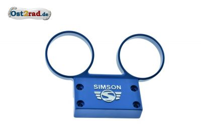 Dashboard SIMSON S51, S70 aluminium with blue logo