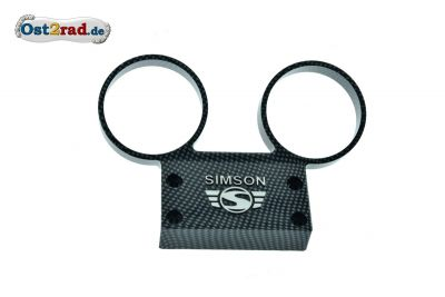 Dashboard SIMSON S51, S70 aluminium with carbon logo
