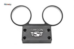Dashboard SIMSON S51, S70 aluminium with black logo