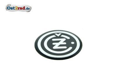 Aufkleber 3D CZ Logo rund schwarz-chrom