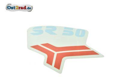 Aufkleber für Beinblech SR50 rot/blau - Originalteil