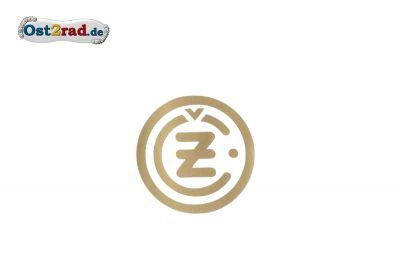 Aufkleber CZ Logo rund gold