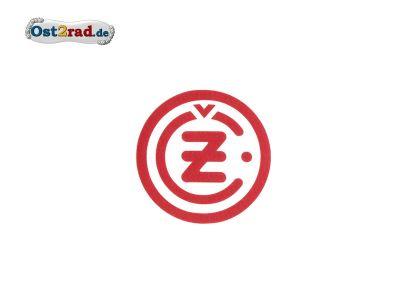 Aufkleber CZ Logo rund rot