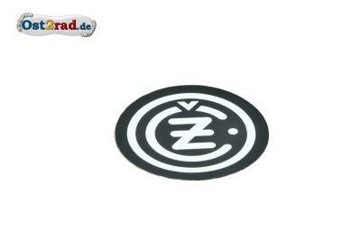 Aufkleber CZ Logo rund schwarz-chrom