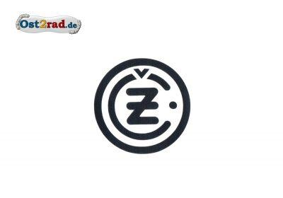 Aufkleber CZ Logo rund schwarz