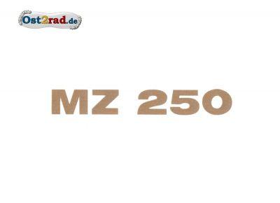 Aufkleber Deckel Sitzbank passend für MZ TS ETS 250 gold