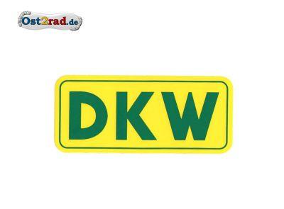 Aufkleber DKW gelb - grün