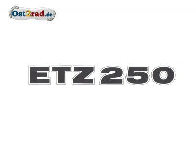 Aufkleber passend für MZ ETZ250 schwarz matt, quer