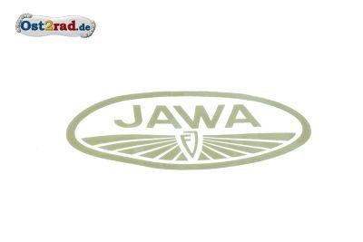 "Aufkleber Jawa Logo """"FJ"""" oval gold groß"