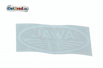 Aufkleber Jawa Logo oval weiß groß