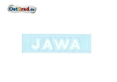 Aufkleber Jawa waagerecht weiß