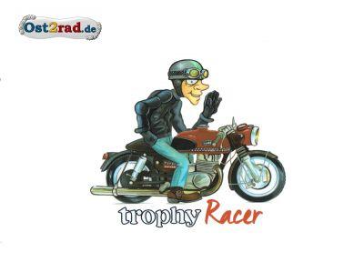 "Aufkleber Karikatur ETS250 ""Trophy Racer"""