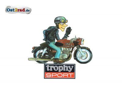 "Aufkleber Karikatur ETS250 ""Trophy Sport"""