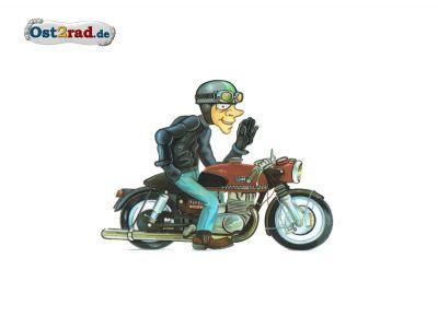 Adhésif caricature ETS250