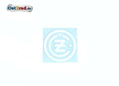 Adhésif emblême CZ rond blanc