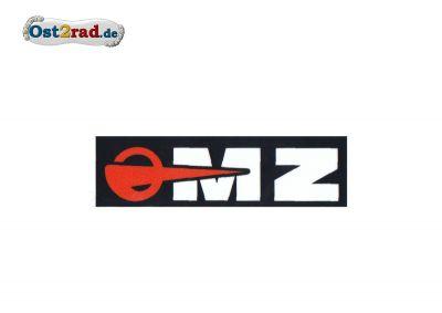 Aufkleber passend für MZ Logo weiß schwarz rot - 130x40